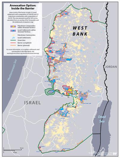 رسم خرائط ضم أراضي من الضفة الغربية الشكوك الإقليمية والسياسية The Washington Institute