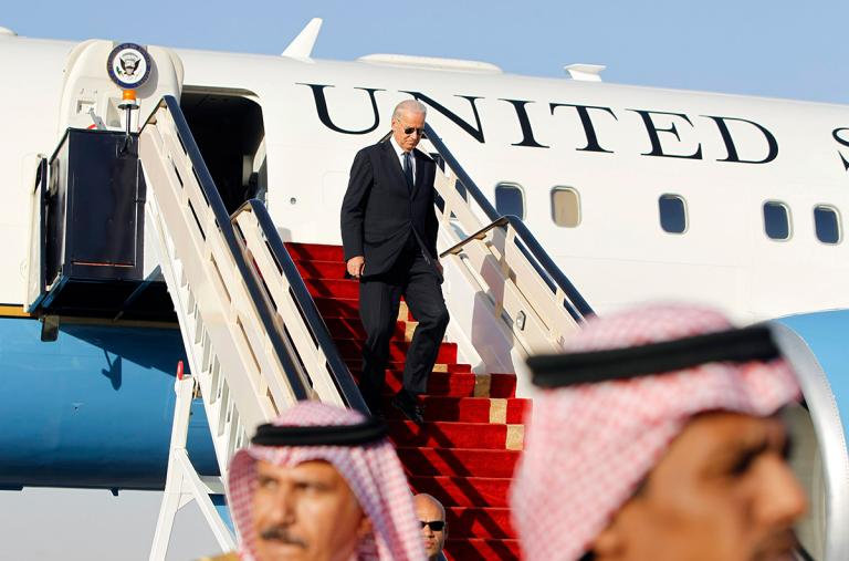 Vice President Joe Biden arrives in Saudi Arabia
