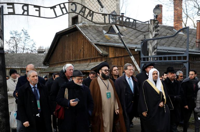 Photo of Muslim World League secretary-general Mohammad Al-Issa visiting Auschwitz