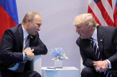 Trump in a Meeting with Putin