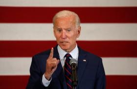 Former Vice President Joe Biden speaks in 2020