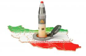 Iran warhead on Iran map
