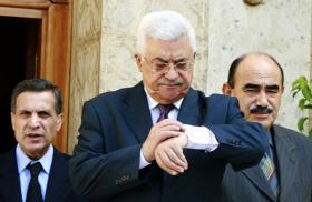 Mahmoud Abbas Checking His Watch